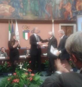 Pietro Mazzo premiato da Malagò