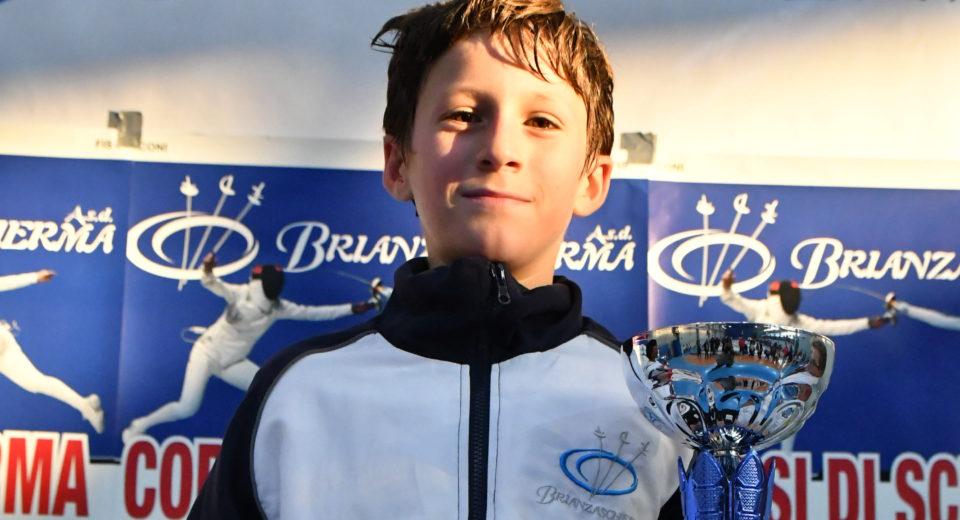 Medaglia d'oro per Gabriele Villa della Brianzascherma al Trofeo d'Autunno