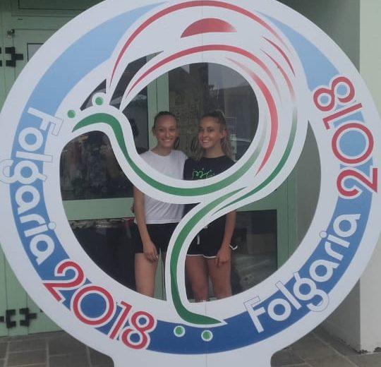 Martina e Gabriella con la Corona Ferrea ai Campionati italiani Fisr