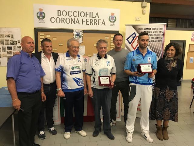 Successo per il Trofeo Brianza Ufficio organizzato dalla Bocciofila Corona Ferrea