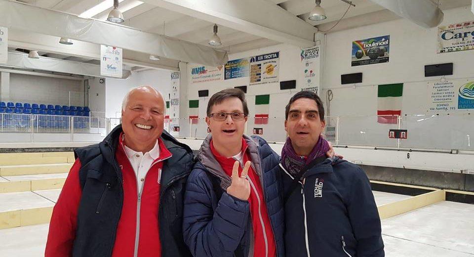 Marco Gallizia dell'Usd Silvia Tremolada vice campione italiano di bocce a Loano