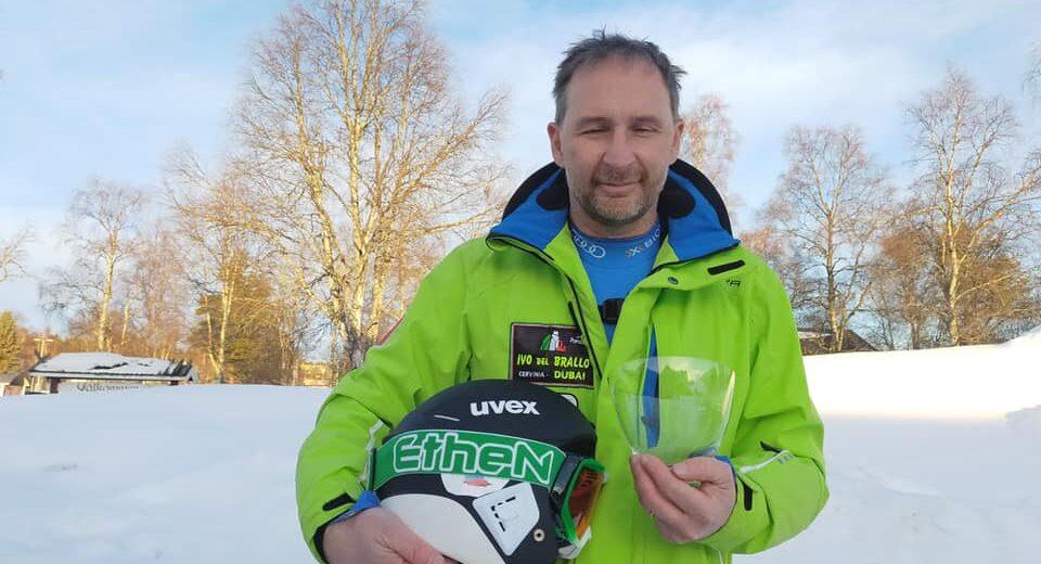 Il consigliere Roberto Borgonovo protagonista alla Coppa del mondo di sci veloce